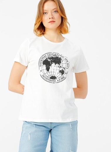 National Geographic National Geographic Beyaz T-Shirt Beyaz